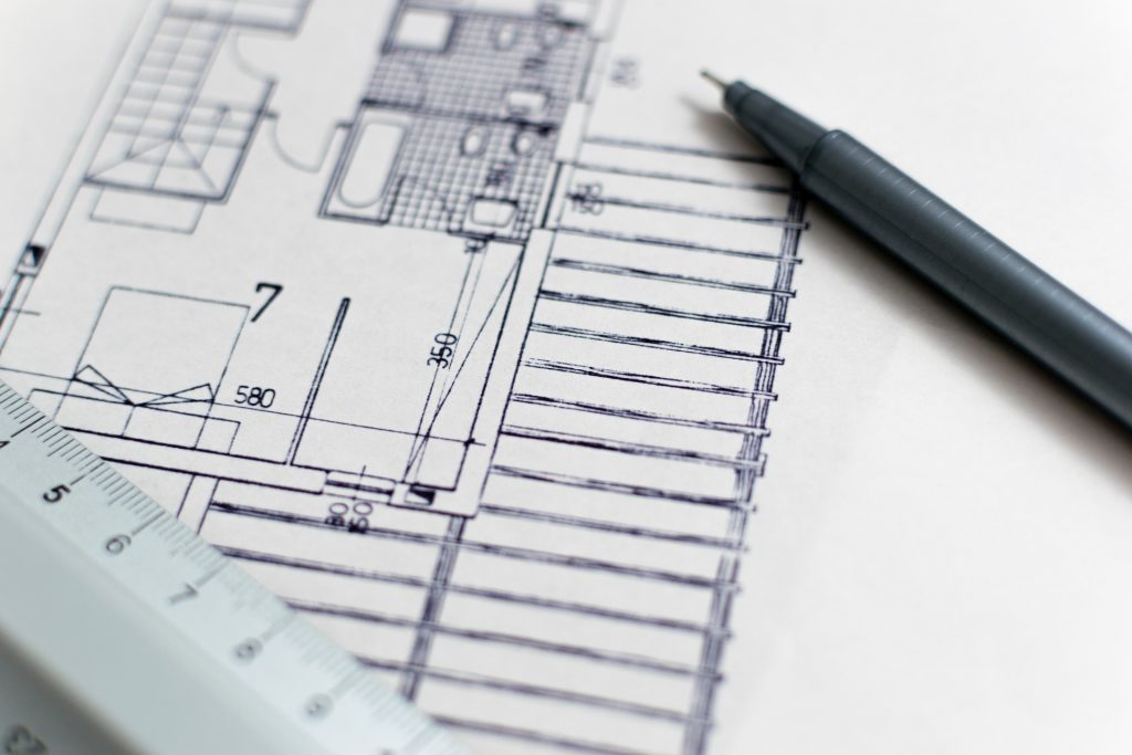 A blueprints like the ones you might have during corporate relocation.