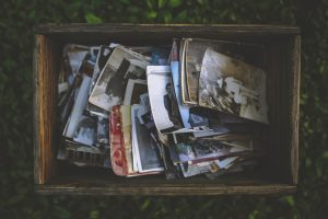 A box of photos you can pack for long distance move