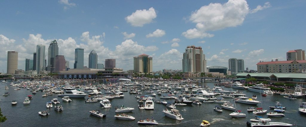 The skyline of Tampa - one of the best places to visit in Florida.