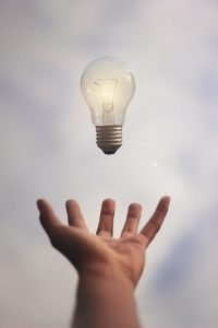 A light bulb representing an idea for starting a business in Tampa