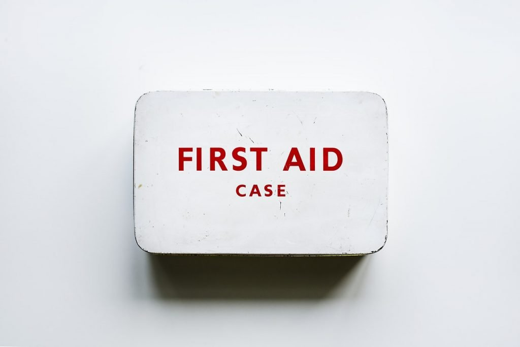 First aid kit is necessary during a move during a snowstorm