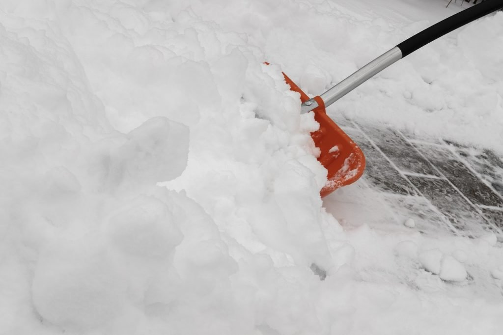 Use a shovel for cleaning the snow