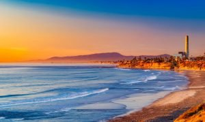 Beautiful beach in California