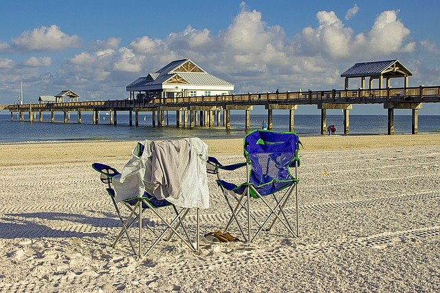 Beach chairs on a beach might be reason enough to move from NYC to Tampa.