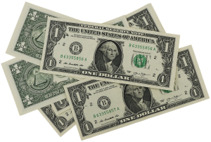 Dollar bills to pay for long distance movers North Carolina.
