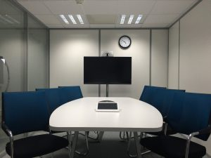 A conference room of long distance movers Nebraska.