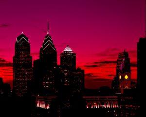Philadelphia at night.