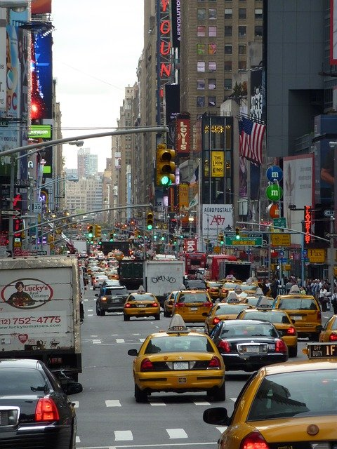 NYC traffic.