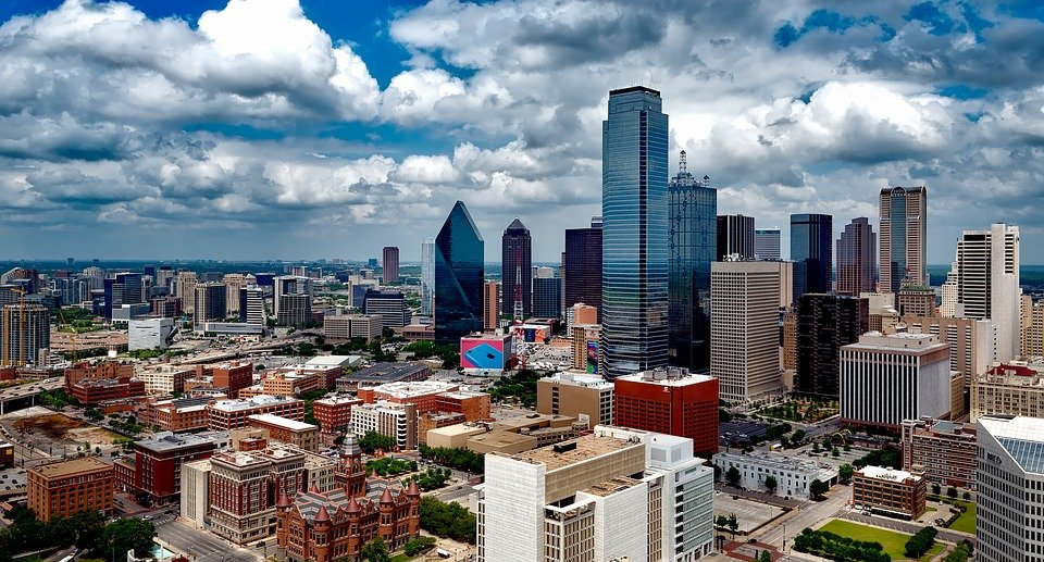 An aerial view of Dallas.