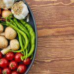 Foods in a pan