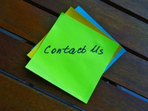 contact us sticky note for residential movers Florida
