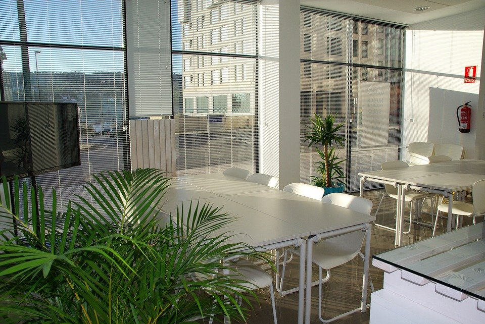 An office to be relocated by commercial movers.