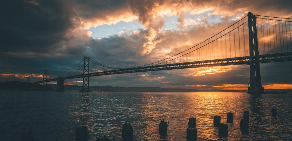 bridge in the sunset