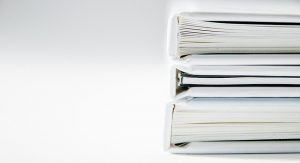 binders with documents