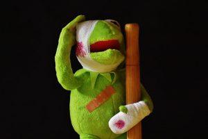 Kermit the frog injured