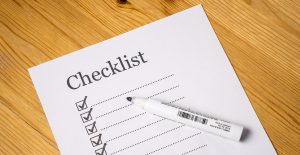 A checklist will help you pack on short notice