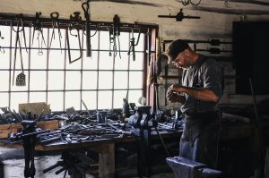 man working with tools