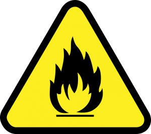 a flammable sign