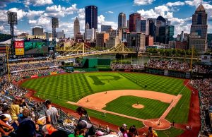 PNC park baseball stadium in one of the best US cities for athletes