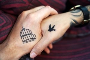 Tattoed hands
