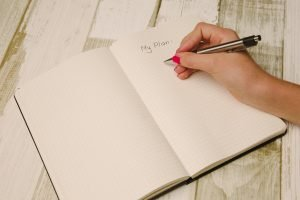 A person writing down a plan in order to avoid Things that complicate relocation
