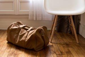 a bag on the floor