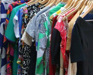 Various Dresses on hangers