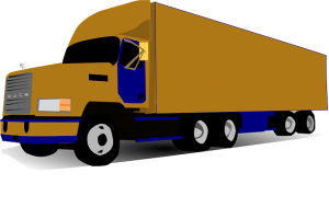 Illustration of a moving truck