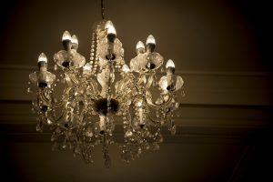 chandelier in the room