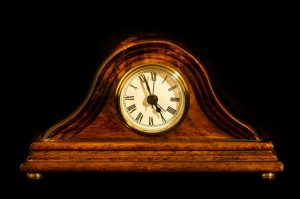 Pack an antique clock and be mindful of its size