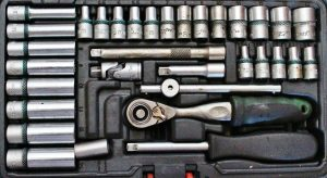 tools in a tool box