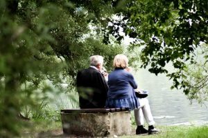 Couple by the river