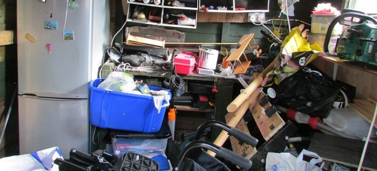 Excess belongings are better off in a storage unit.