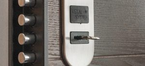 lock on a door as a part of Home security features to look for when buying a house in Tampa