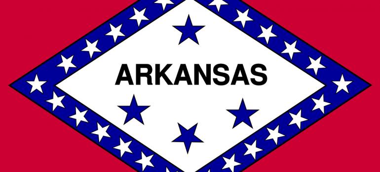 The flag of Arkansas