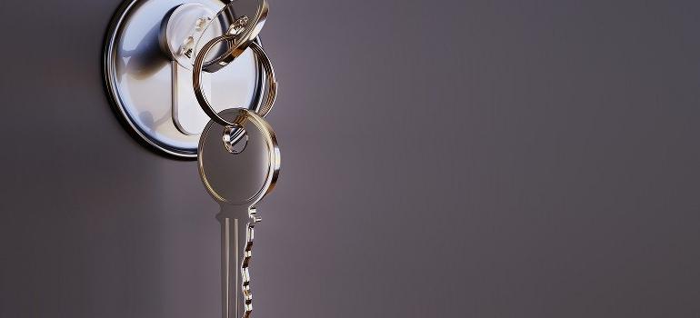 a key in a lock