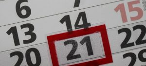 a calendar you will use to when Moving from Indiana to California