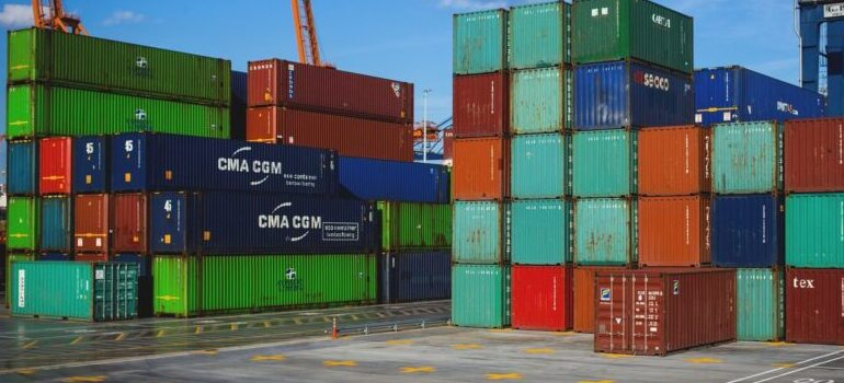 cargo containers, storage