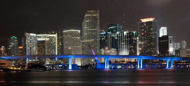 View at Miami at night