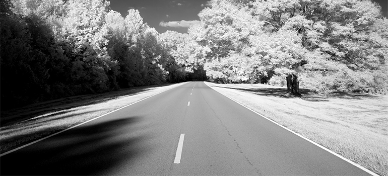 road in Mississippi