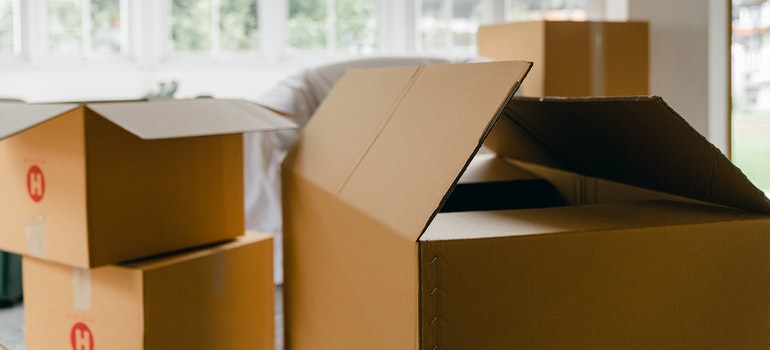Cardboard boxes for packing when moving from Missouri to Kansas