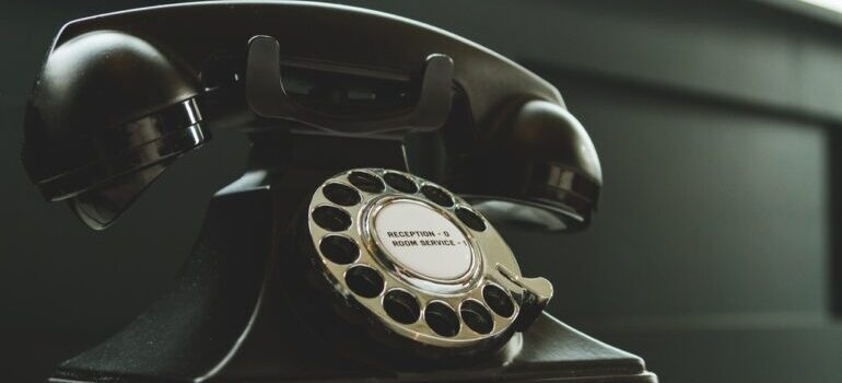 A retro rotary phone, that someone could use to contact the best cross country movers in Pittsburgh.