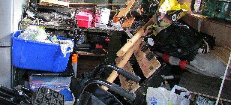 clutter, chaos, garage