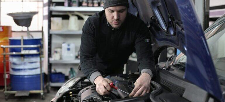 Mechanic engine check.