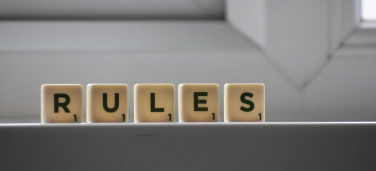 Word rules on little cubes
