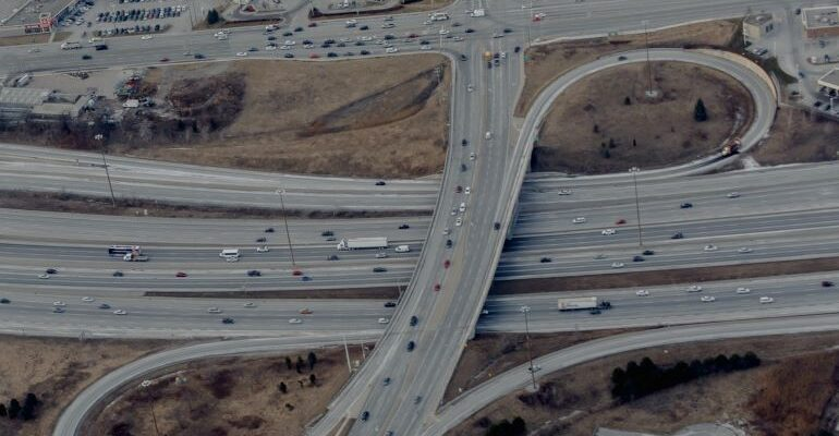Large highway intersection