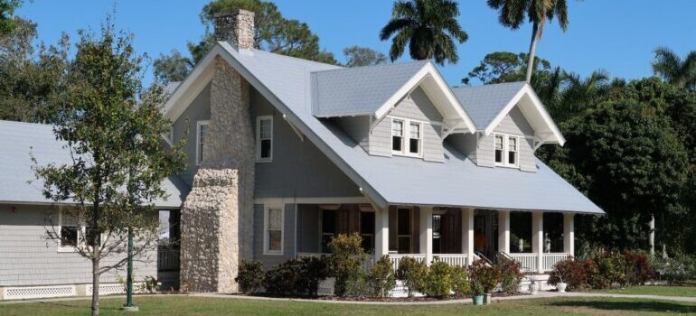 family home with a gray roof