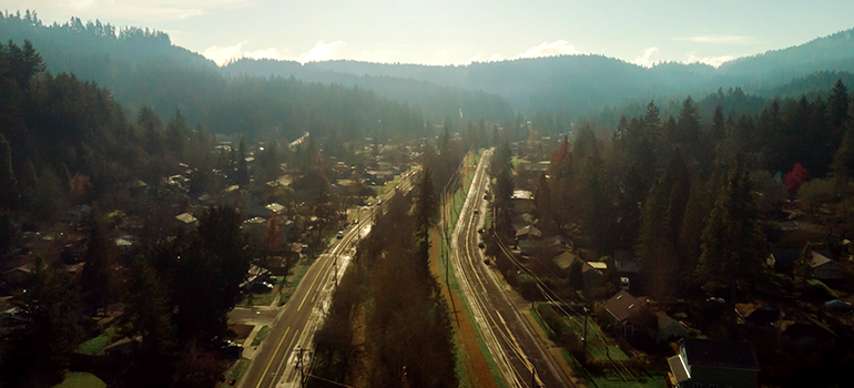 Areal view of Eugene