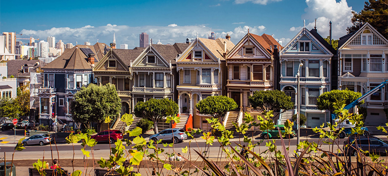 a row of homes