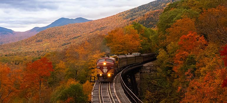 a train in New Hampshire